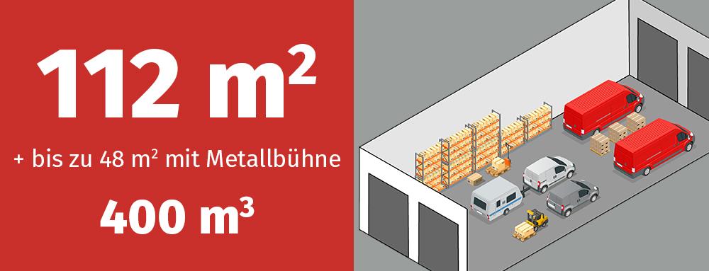 Variante GaragenMAX 400: 400 Kubikmeter Platz für Gewerbe und privat